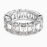 Vittore széles gyűrű, fehér, ródium bevonattal - Swarovski, 5562129