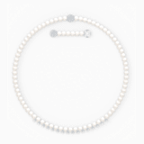 Collar Treasure Pearls, blanco, baño de rodio - Swarovski, 5563289
