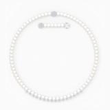 Treasure Pearls 项链, 白色, 镀铑 - Swarovski, 5563289