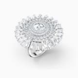 Swarovski Sparkling Dance Dial Up gyűrű, fehér, ródium bevonattal - Swarovski, 5564427