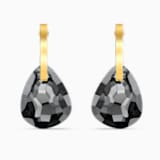 T Bar 穿孔耳環, 灰色, 鍍金色色調 - Swarovski, 5565999