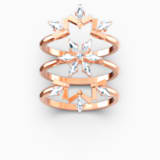 Sada prstenů Magic, bílé, pozlacené růžovým zlatem - Swarovski, 5566676
