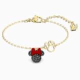 Minnie 手鏈, 黑色, 鍍金色色調 - Swarovski, 5566690