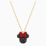 Pendentif Minnie, noir, métal doré - Swarovski, 5566693
