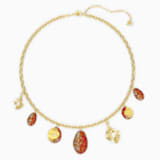 The Elements Halskette, rot, Metallmix - Swarovski, 5567365