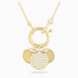 Ginger Charm 项链, 白色, 镀金色调 - Swarovski, 5567530