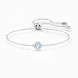 Pulsera Angelic Cushion, azul, baño de rodio - Swarovski, 5567933
