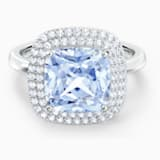 Angelic gyűrű, kék, ródium bevonattal - Swarovski, 5567955