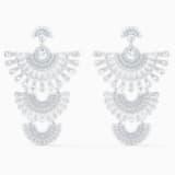 Τρυπητά σκουλαρίκια Swarovski Sparkling Dance Dial Up, λευκά, επιροδιωμένα - Swarovski, 5568008