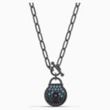 Togetherness Lock Necklace, Black, Black PVD - Swarovski, 5568034