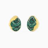Σκουλαρίκια με κλιπ The Elements, πράσινα, επιχρυσωμένα - Swarovski, 5568265