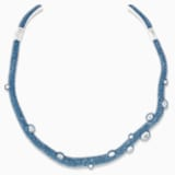Tigris Torque Necklace, Aqua, Palladium plated - Swarovski, 5568616