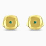 Theo Earth Element Cufflinks, Green, Gold-tone plated - Swarovski, 5569062