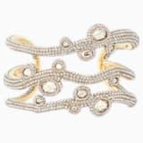 Tigris Cuff, White, Gold-tone plated - Swarovski, 5569069