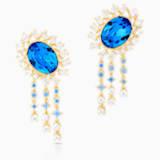 Pendientes Penélope Cruz Icons of Film, azul, baño tono oro - Swarovski, 5569083