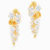 Penélope Cruz Icons of Film Drop Pierced Earrings, Yellow, Gold-tone plated - Swarovski, 5569084