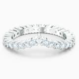 Prsten Vittore ve tvaru V, bílý, rhodiovaný - Swarovski, 5569171