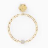 The Elements Moon Bracelet, Blue, Gold-tone plated - Swarovski, 5569182