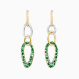 The Elements Pierced Earrings, Green, Mixed metal finish - Swarovski, 5569183