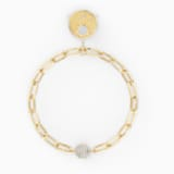 The Elements Sun Bracelet, White, Gold-tone plated - Swarovski, 5569190