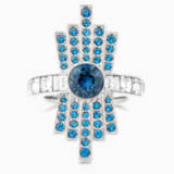 Karl Lagerfeld Cocktail Ring, Blue, Palladium plated - Swarovski, 5569536