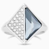 Karl Lagerfeld Signet 戒指, 藍色, 鍍鈀色 - Swarovski, 5569556