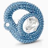 Tigris 戒指, 海藍色, 鍍鈀色 - Swarovski, 5569569