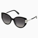 Fluid Cat Eye Sunglasses, Black - Swarovski, 5569895