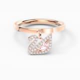 Prsten Dazzling Swan, růžový, pozlacený růžovým zlatem - Swarovski, 5569923