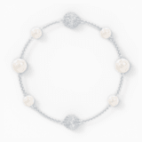 Strand Swarovski Remix Collection Pearl, blanco, baño de rodio - Swarovski, 5570816
