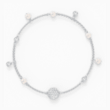 Swarovski Remix Collection Delicate Pearl Strand, weiss, rhodiniert - Swarovski, 5572076