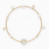 Strand Swarovski Remix Collection Delicate Pearl, blanc, métal doré - Swarovski, 5572079