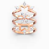Magic 戒指套裝, 白色, 鍍玫瑰金色調 - Swarovski, 5572493