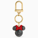 Minnie Bag Charm, Black, Gold-tone plated - Swarovski, 5572567