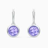 Tahlia Mini Hoop Pierced Earrings, Purple, Rhodium plated - Swarovski, 5572586