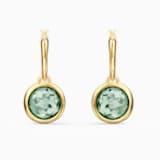 Tahlia Mini 穿孔耳環, 綠色, 鍍金色色調 - Swarovski, 5572587