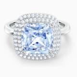 Bague Angelic, bleu, métal rhodié - Swarovski, 5572636
