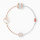 Strand Swarovski Remix Collection Luck, rouge, finition mix de métal - Swarovski, 5572649