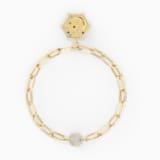 The Elements Moon Bracelet, Blue, Gold-tone plated - Swarovski, 5572651
