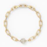 The Elements Chain Bileklik, Beyaz, Altın rengi kaplama - Swarovski, 5572652