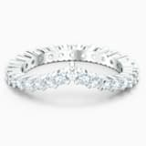 Vittore V Ring, White, Rhodium plated - Swarovski, 5572814