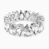 Vittore Pear 戒指, 白色, 鍍白金色 - Swarovski, 5572827