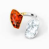 Anillo The Elements, rojo, combinación de acabados metálicos - Swarovski, 5572882