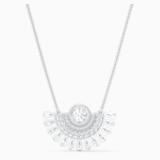 Swarovski Sparkling Dance Dial Up Necklace, Medium, White, Rhodium plated - Swarovski, 5573694