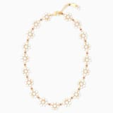 Penélope Cruz Icons of Film Flower Necklace, Red, Gold-tone plated - Swarovski, 5573959