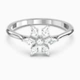 Magic 戒指, 白色, 鍍白金色 - Swarovski, 5576696