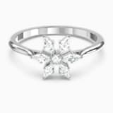 Prsten Magic, bílý, rhodiovaný - Swarovski, 5576696