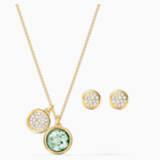 Tahlia Set, Green, Gold-tone plated - Swarovski, 5579789