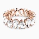 Vittore Pear 戒指, 白色, 鍍玫瑰金色調 - Swarovski, 5586162