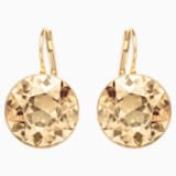 Bella Pierced Earrings, Brown, Gold-tone plated - Swarovski, 901640